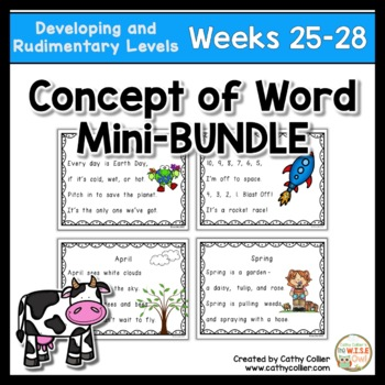 Concept of Word Intervention BUNDLE:  Weeks 25-28
