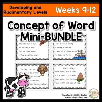 Concept of Word Intervention BUNDLE:  Weeks 9-12