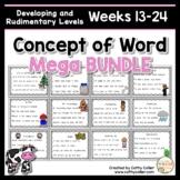 Concept of Word Intervention MEGA BUNDLE #2:  Weeks 13-24