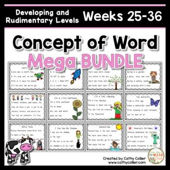 Concept of Word Intervention MEGA BUNDLE #3:  Weeks 25-36