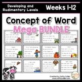 Concept of Word Intervention MEGA BUNDLE #1:  Weeks 1-12