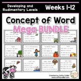 Concept of Word Intervention MEGA BUNDLE #1:  Weeks 1-12