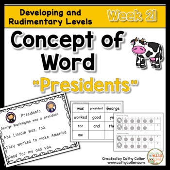 Concept of Word Intervention:  Week 21