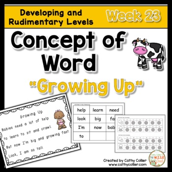 Concept of Word Intervention:  Week 22