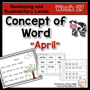 Concept of Word Intervention:  Week 27