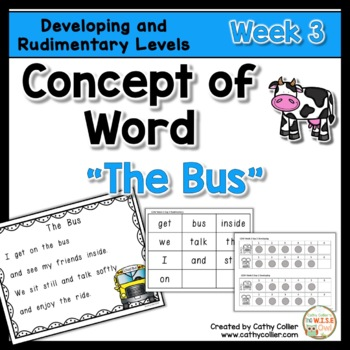 Concept of Word Intervention:  Week 3