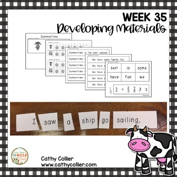 Concept of Word Intervention: Week 35