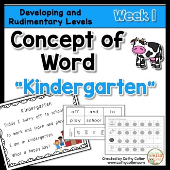 Concept of Word Intervention:  Week 1