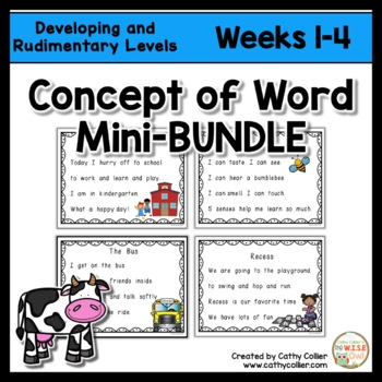 Concept of Word Intervention:  Weeks 1-4 BUNDLE