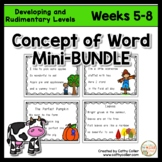 Concept of Word Intervention BUNDLE:  Weeks 5-8