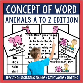Animals A to Z Concept of Word Poetry Bundle