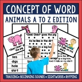 Concept of Word Intervention: Animals A to Z Edition