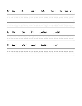Concept of Word Worksheet
