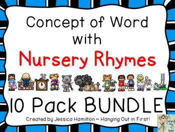 Concept of Word with Nursery Rhymes - BUNDLE