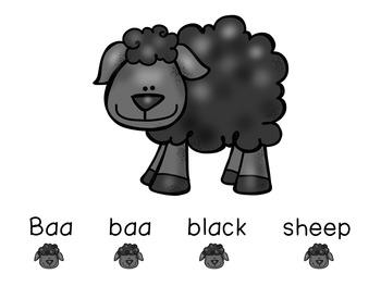 Concept of Word with Nursery Rhymes - Baa Baa Black Sheep