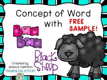 Concept of Word with Nursery Rhymes - Baa Baa Black Sheep FREE SAMPLE