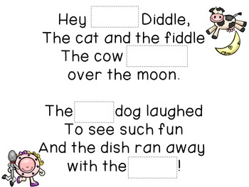 Concept of Word with Nursery Rhymes - Hey Diddle Diddle
