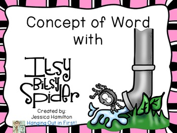 Concept of Word with Nursery Rhymes - Itsy Bitsy Spider