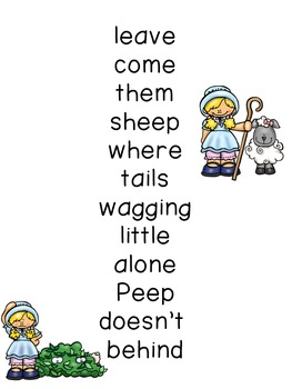 Concept of Word with Nursery Rhymes - Little Bo Peep