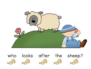Concept of Word with Nursery Rhymes - Little Boy Blue