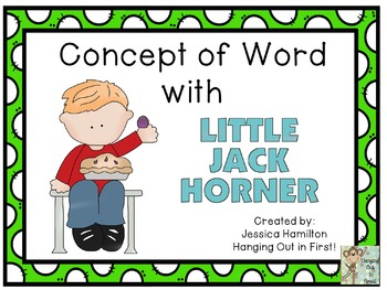 Concept of Word with Nursery Rhymes - Little Jack Horner