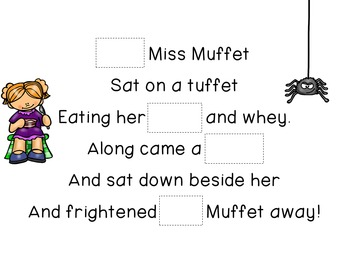 Concept of Word with Nursery Rhymes - Little Miss Muffet