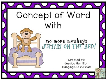 Concept of Word with Nursery Rhymes - No More Monkeys Jumping on the Bed