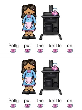 Concept of Word with Nursery Rhymes - Polly Put the Kettle On