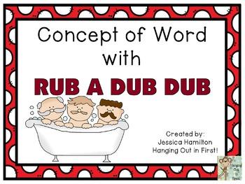 Concept of Word with Nursery Rhymes - Rub a Dub Dub