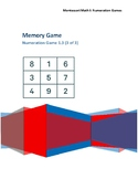 Memory Game Montessori Math Lesson Plan Numeration BC Curriculum