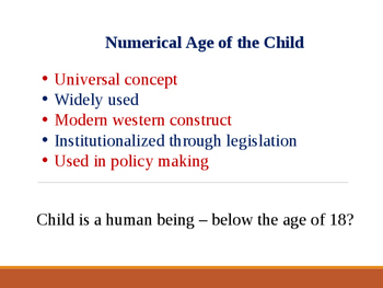 Concept of a 'Child'