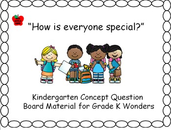 Concept question board classbook for the Wonders grade-k S
