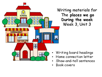 Concept writings for Unit 3, Week 3, Wonders, Places we Go