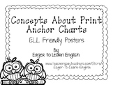Concepts About Print Anchor Charts (B&W Color Me! Edition)