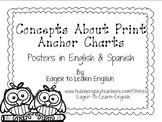 BILINGUAL SET: Concepts About Print Anchor Charts (B&W Col