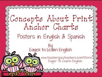 BILINGUAL SET: Concepts About Print Anchor Charts