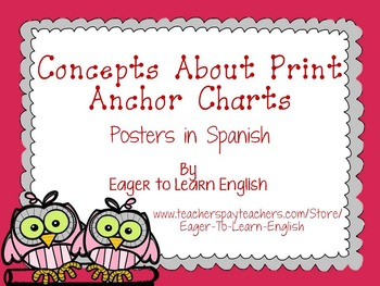 Concepts About Print Anchor Charts (in Spanish!)