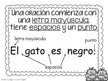 Concepts About Print Anchor Charts-in Spanish (B&W Color Me! Edition)