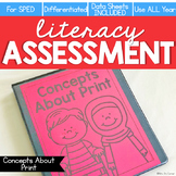 Concepts About Print Assessment - Literacy Reading Assessm