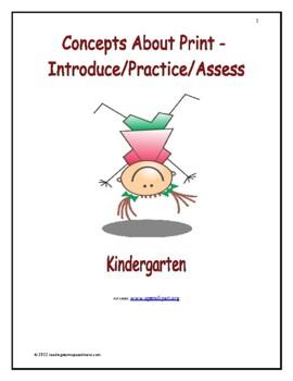Concepts About Print: Introduce/Practice/Assess - Kindergarten