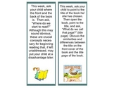 Concepts About Print homework bookmarks