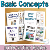 Basic Concepts Interactive Books - Adapted Books for Special Education & Autism