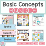 Concepts Materials Bundle For Speech Therapy Special Education