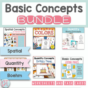 Basic Concepts Materials Bundle For Speech Therapy Special Education