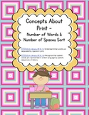 Concepts about Print - Word & Space Word Work Sort(Common Core & Differentiated)