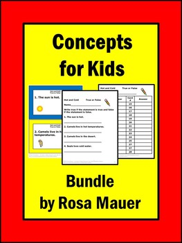 Concepts for Kids task Card Bundle
