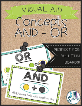 Concepts of AND and OR Visual Aid FREEBIE