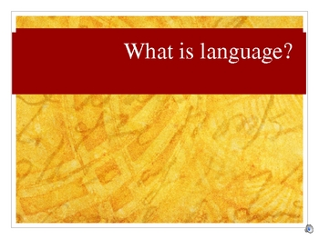 Concepts of Language