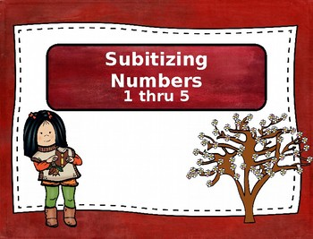 Concepts of Numbers : Subitizing Numbers - 1 thru 5