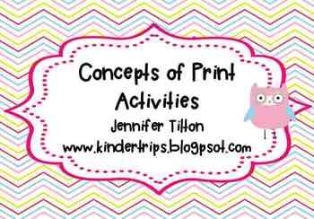 Concepts of Print Activities